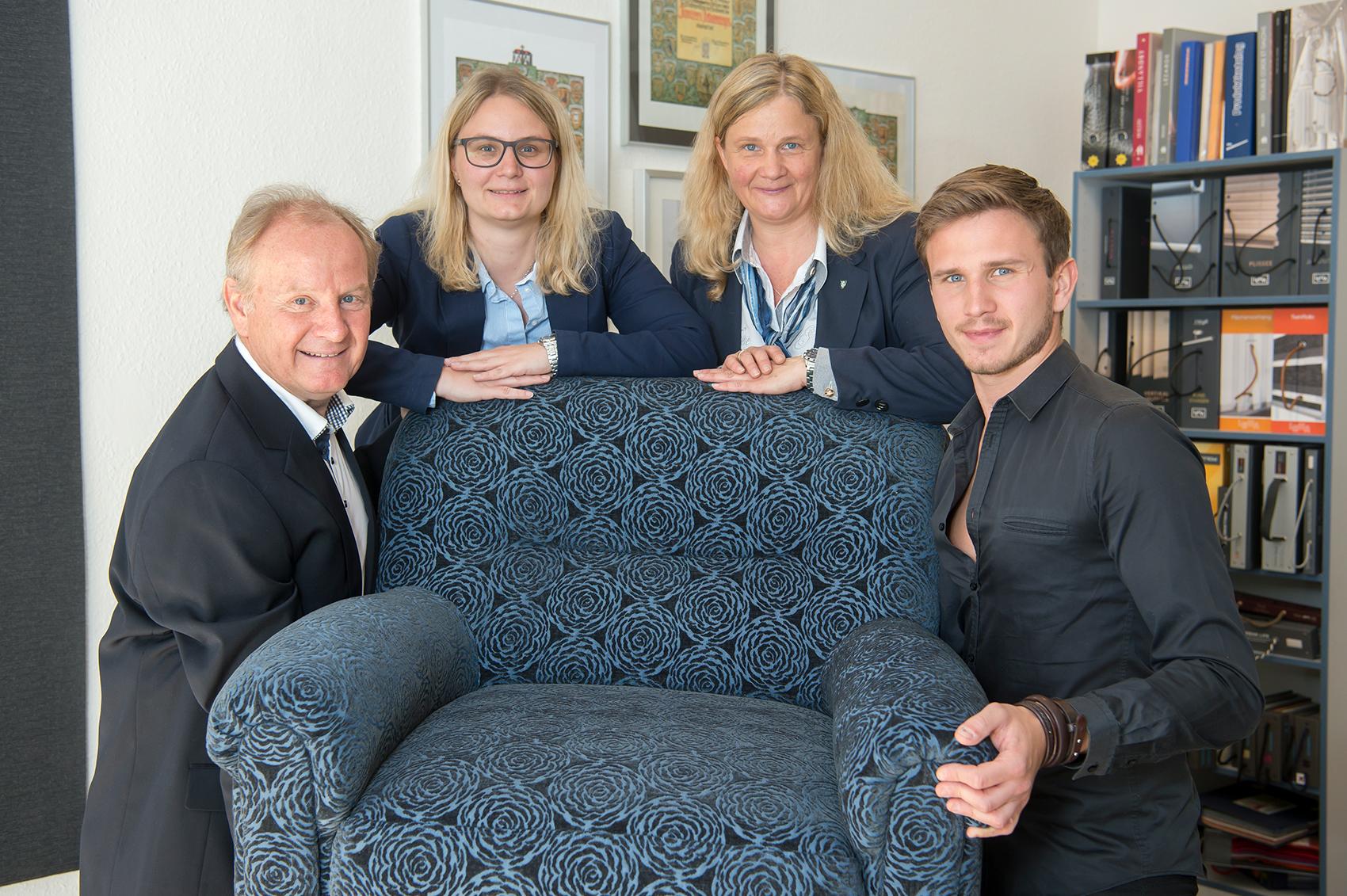Gerhard Kaufmann, Martina Kaufmann, Eva Kaufmann & Michael Kaufmann von Tapezierer Kaufmann aus Graz